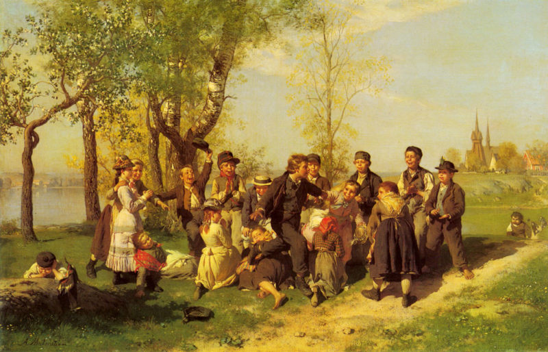 Children At Play | August Malmstrom | Oil Painting