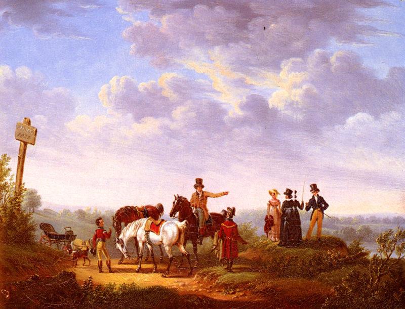 A Meeting At The Crossroads | Bernard Edouard Swebach | Oil Painting