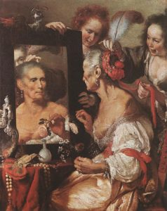 Old Woman At The Mirror 1615 | Bernardo Strozzi | Oil Painting