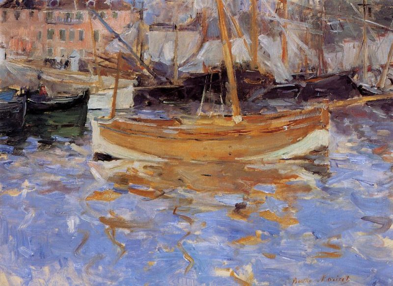 The Port of Nice 1882   Berthe Morisot   Oil Painting