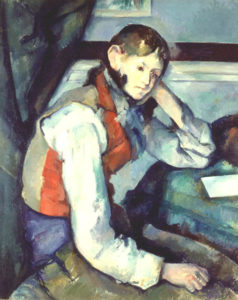 The Boy in the Red Vest | Paul Cezanne | Oil Painting
