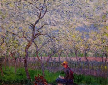 An Orchard in Spring 1886 | Claude Monet | Oil Painting