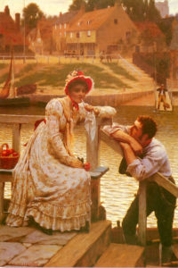 Courtship | Edmund Blair-Leighton | Oil Painting