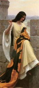 Stitching the Standard | Edmund Blair-Leighton | Oil Painting