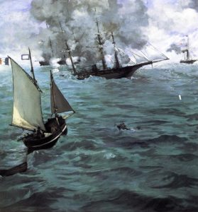 Battle of the Kearsarge and the Alabama 1864 | Edouard Manet | Oil Painting
