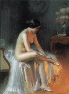 A Nude By Firelight | Delphin Enjolras | Oil Painting
