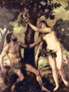Adam And Eve | Tiziano Vecellio Titian | Oil Painting