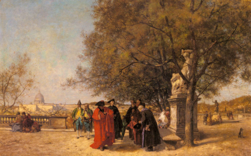 The Greeting In The Park | Ferdinand Heilbuth | Oil Painting