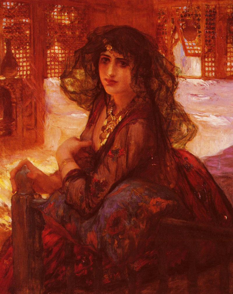 Harem Girl   Frederick Arthur Bridgman   Oil Painting