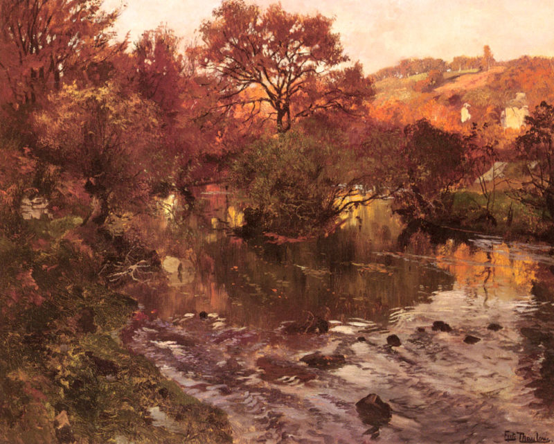 Golden Autumn Brittany | Frits Thaulow | Oil Painting