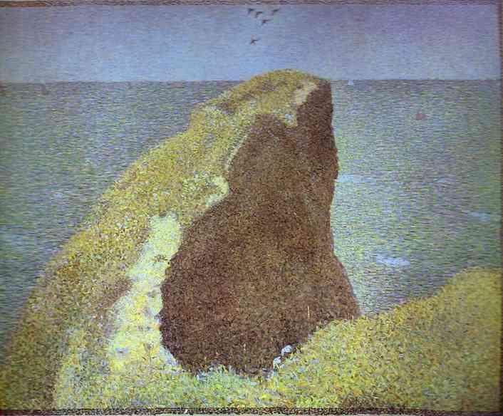 Le Bec Du Hoc Grandcamp 1885   Georges Seurat   Oil Painting