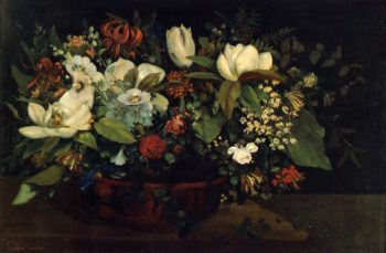 Basket of Flowers 1863 | Gustave Courbet | Oil Painting