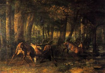 Battle of the Stags 1861 | Gustave Courbet | Oil Painting