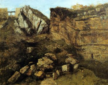 Crumbling Rocks 1864 | Gustave Courbet | Oil Painting