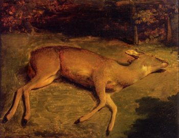 Dead Deer 1857 | Gustave Courbet | Oil Painting