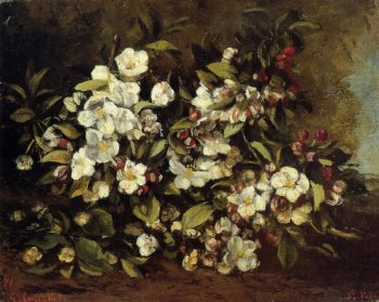 Flowering Apple Tree Branch 1872 | Gustave Courbet | Oil Painting