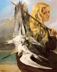 Girl with Seagulls, Trouville 1865