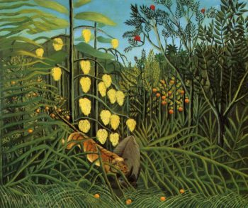Combat of a Tiger and a Buffalo 1908 | Henri Rousseau | Oil Painting
