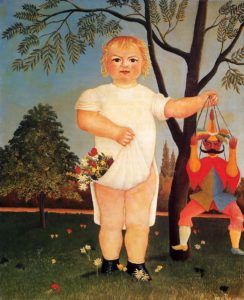 Child with Puppet (aka To Celebrate the Baby) 1903 | Henri Rousseau | Oil Painting