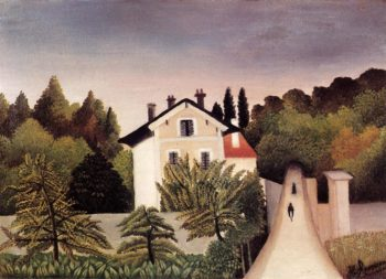 House on the Outskirts of Paris 1902 | Henri Rousseau | Oil Painting