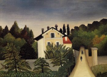 Landscape on the Banks of the Oise Area of Chaponval 1905 | Henri Rousseau | Oil Painting