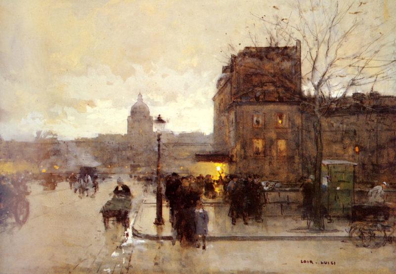 Boulevard Henri IV Crepuscule | Luigi Loir | Oil Painting
