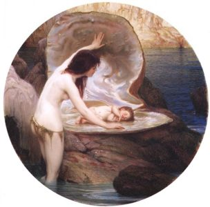A Water Baby 1900 | Herbert Draper | Oil Painting