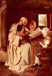 Reading The Bible | Hermann Kaulbach | Oil Painting
