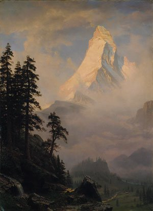 Sunrise on the Matterhorn 1875   Albert Bierstadt   Oil Painting