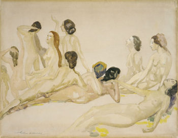 Eleven Nudes ca 1910 | Arthur B Davies | Oil Painting