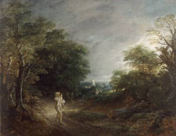 Wooded Landscape with a Woodcutter 1762 63 | Thomas Gainsborough | Oil Painting