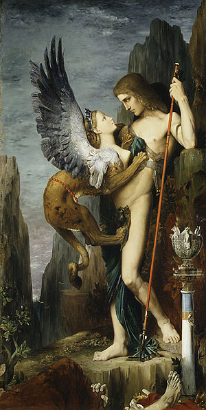 Oedipus and the Sphinx 1864 | Gustave Moreau | Oil Painting