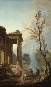The Portico of a Country Mansion 1773 | Hubert Robert | Oil Painting
