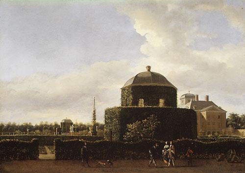 The Huis ten Bosch Seen from the Side | Jan van der Heyden | Oil Painting