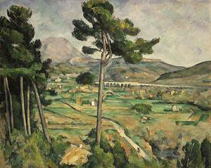 Mont Sainte Victoire and the Viaduct of the Arc River Valley | Paul Cezanne | Oil Painting