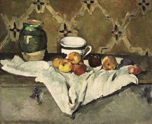 Still Life with Jar Cup and Apples ca. 1877 | Paul Cezanne | Oil Painting