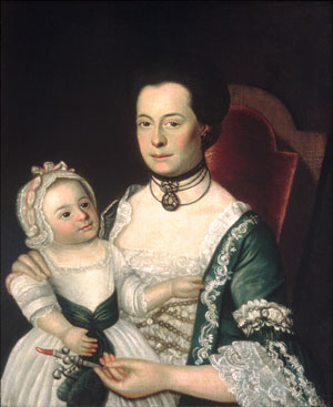 Mrs Jacob Hurd and Child 1762 | William Johnston (1732 1772) | Oil Painting