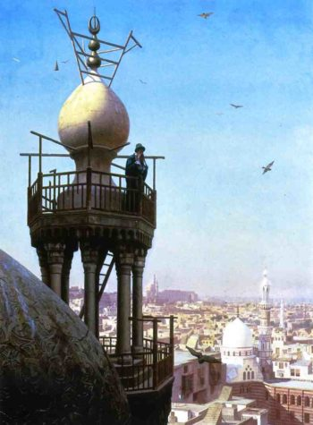 A Muezzin Calling the Faithful to Prayer 1878 | Jean Leon Gerome | Oil Painting