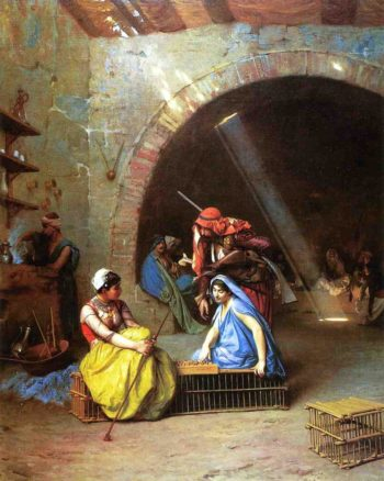 Almehs Playing Chess 1870 | Jean Leon Gerome | Oil Painting