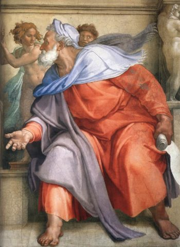 Ezekiel (Detail) 1 1510 | Michaelangelo | Oil Painting