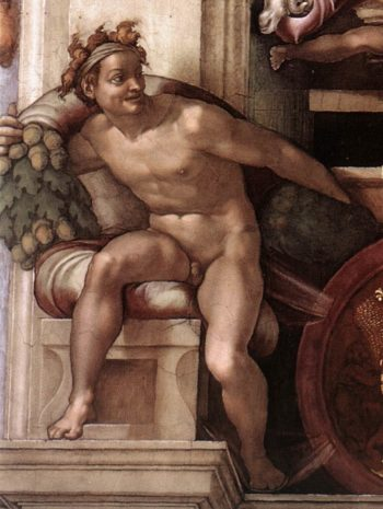 Ignudo 7 1509 | Michaelangelo | Oil Painting