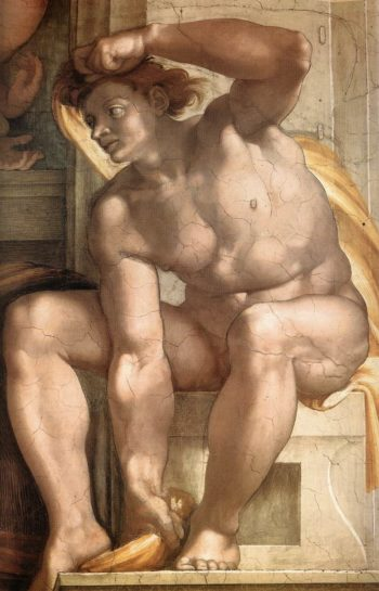 Ignudo 9 1509-10 | Michaelangelo | Oil Painting