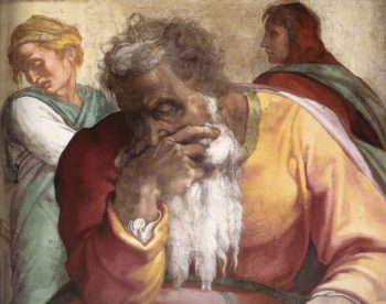 Jeremiah (Detail) 1 1511 | Michaelangelo | Oil Painting