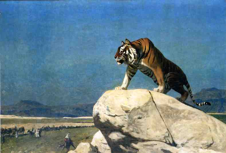 Tiger on the Lookout | Jean Leon Gerome | Oil Painting