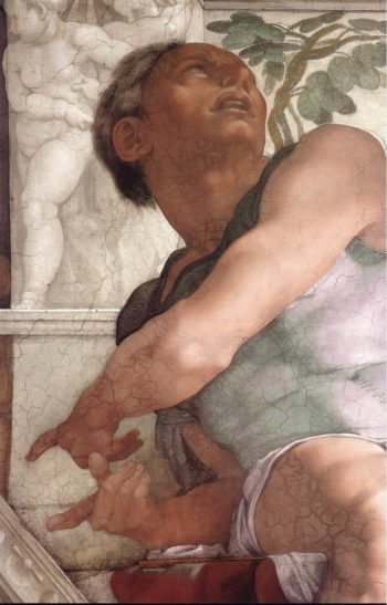 Jonah (Detail) 1 1511 | Michaelangelo | Oil Painting