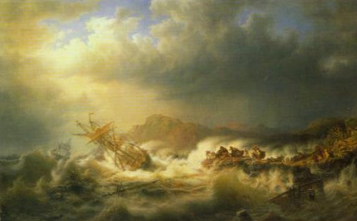 Shipwreck 1853 | Marcus Larson | Oil Painting