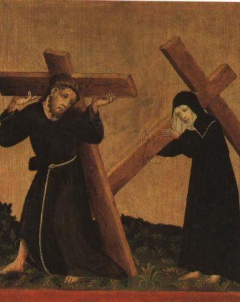 Christ Carrying The Cross | Anonymous German Master Circa 1420 | Oil Painting