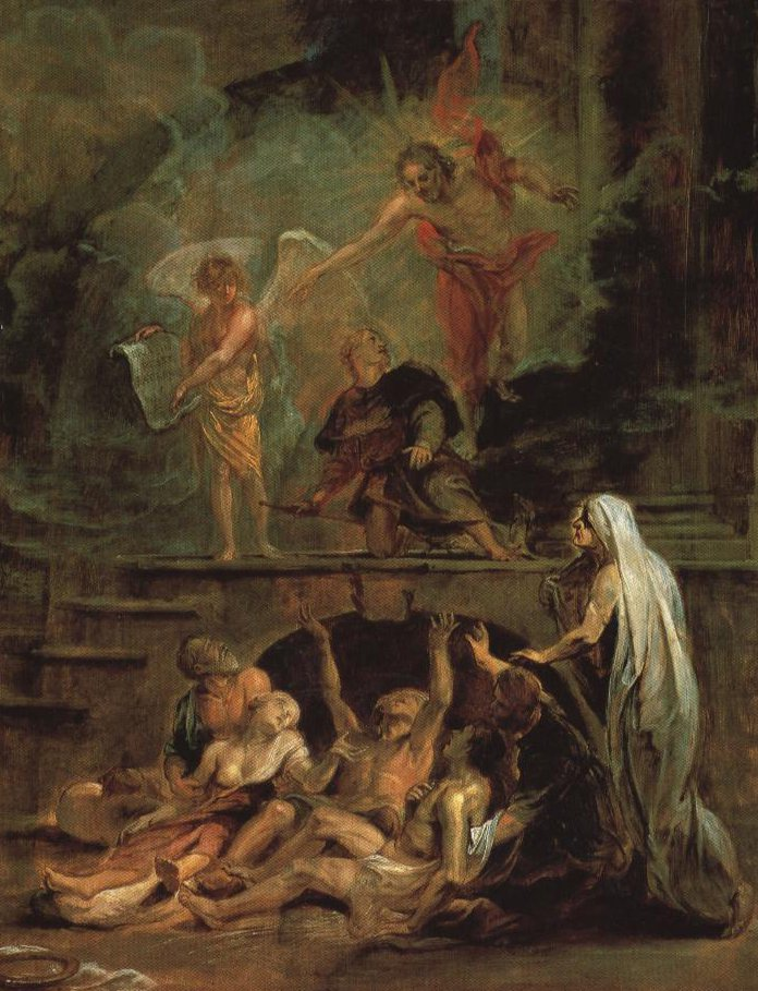St Roch As Patron Of The Plague Stricken   Attributed To Rubens   Oil Painting