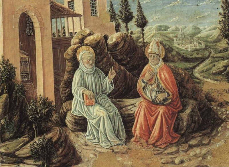 St Sabinus Conversing With St Benedict | Giovanni Boccati | Oil Painting