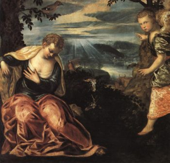 Annunciation To The Wife Of Manoah | Jacopo Tintoretto | Oil Painting